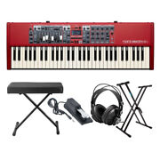 Nord Electro 6d 61 Key Keyboard With Stand Bench Sustain Pedal And Heaphones