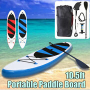 10.5and039 Sup Inflatable Stand Up Paddle Board Surfboard Kayak Paddle Pump Gift Surf