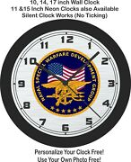 United States Naval Naval Special Development Group Badge Wall Clock-free Ship