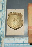 Rare Doepke Model Toy Metal Cast Pin Back Fire Chief Badge Mail-away Nrfb