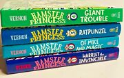 Hamster Princess Hardcover Books Volumes 1-4 Like New. Very Clean. Free Ship. C