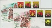 Stamps Papua New Guinea 1969 Native Orchid Set 4 On Pair Wcs Wesley Cachet Fdcs