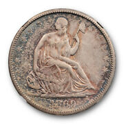 1869 S 50c Seated Liberty Half Dollar Ngc Au 55 About Uncirculated Toned