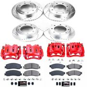 Kc6547 Powerstop Brake Disc And Caliper Kits 4-wheel Set Front And Rear For Ford