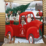Personalized Christmas Express Delivery Red Truck Jack Russell Dogs Quilt