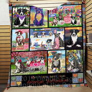 Personalized Love Is Being Owned American Staffordshire Terrier Dog Lovers Quilt