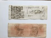 Old Master Drawing 14th Century Dbl. Sided Italian Pen And Ink Journal Drawings
