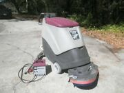 Minuteman 240x Walk-behind 24v Floor Scrubber Cleaner W/ Charger, Low Hours P/r