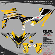 Dfr Flow Graphic Kit Yellow Sides/fenders 2014-newer Yamaha Yfz450r