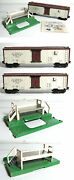 Lionel 3662-0s 3662 Deluxe White Milk Car With Brown Roof And Platform
