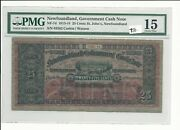 Government Of Newfoundland Cash Note St.johnand039s 1913-1914 25 Cents Nf-7d Pmg-15