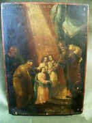 Rare Icon Introduction To The Church Of The Most Holy Theotokos Russian