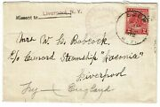 1920and039s Eden Ny Cancel On Cover To Liverpool England Missent To Liverpool Ny