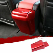 For Honda Civic 10th 2016-2021 Abs Red Rear Air Outlet Vent Anti-kick Panel Trim