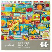 Hallmark Ripe For Picking Vintage Fruit Labels 1000-piece Jigsaw Puzzle