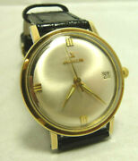 Antique Great Rare Beautiful Gubelin Solid Golden Top Automatic Manand039s Date Watch