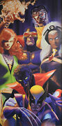 Alex Ross X-men X-traordinary Giclee On Canvas Signed By Alex Ross 99/100