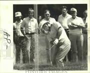 1977 Press Photo Golfer Miller Barber Swings Club At New Orleans Open Sand Trap