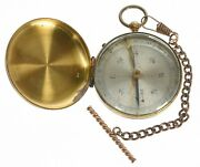 Pocket Compass Inscribed F.l. Rogers/co. C 21st Infantry With Chain