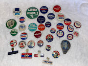 Vintage Lot Political Campaign Buttons Carter Goldwater Lbj Nixon Kennedy Ford +