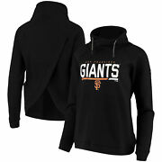 San Francisco Giants Levelwear Womenand039s Craze Open Back Funnel Neck Pullover