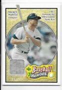 2005 Upper Deck Baseball Heroes Mickey Mantle Jersey Relic 8/10