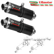 Mivv Suzuki Dl V Strom 1000 2013 Exhaust Oval Carbon Motorcycle Silencers