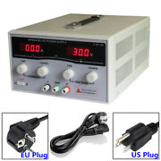 Variable Dc Switch Power Supply 30v 20a-50a Adjustable Dual Digital Display Lab