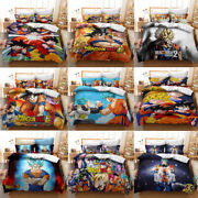 Dragon Ball Collection Single/double/queen/king Bed Quilt Cover Set