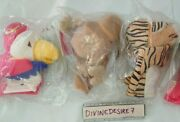 Emirates Airline Glove Hand Puppets 3 Sealed In Bags Parrot Camel Tiger Querks