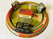 1920and039s Marx Honeymoon Express Wind-up Train Tin Toy 9 Andfrac12 Usa Works Vintage