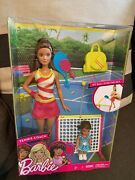 New Barbie Doll Barbie Careers Tennis Coach Brunette And Child Doll Hispanic Nrfb