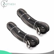 100and039 X 2/5 Synthetic Winch Rope Line 23000lb For Atv Utv Suv Jeep Truck 2pcs