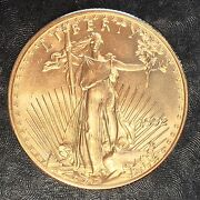 1992 American Gold Eagle 1/2oz 25 Gold Coin - High Quality Scans E585