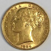 1884-m Great Britain Sovereign Gold Coin - High Quality Scans C874