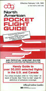 Oag Official Airline Guide North American Pocket Timetable 2/1/83 [1031]