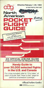 Oag Official Airline Guide North American Pocket Timetable 2/1/82 [1031]
