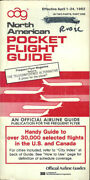 Oag Official Airline Guide North American Pocket Timetable 4/1/82 [1031]