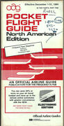 Oag Official Airline Guide North American Pocket Timetable 12/1/84 [1031]