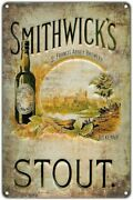 Smithwickand039s Stout Craft Beer Vintage Rustic Retro Tin Metal Sign 8 X 12in