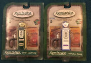 Nip Remington Die Cast Metal 1950and039s Blue And Green Style Gas Pumps Gear Box Toys