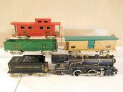 American Flyer O Scale 3302 2-4-2 Engine With 3 Car Freight Set