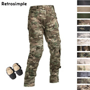 Mens Tactical Combat Trousers Cargo Pants Army Military Swat Casual Camouflage