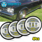 4pcs 5-3/4 5.75 Inch Led Headlight Ring Turn Signals Fit For Plymout Pontiac