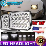 2pc 5x7and039and039 7x6and039and039 Led Headlight Hi-lo Sealed H4 Fit Chevrolet Corvette K1500 C3500