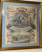 Jos. Schlitz Brewing Company Milwaukee Lager Beer Sign 1971 Of 1878 Print Old