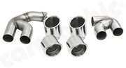 Cargraphic Sport Tailpipes 100mm Mirror Polished For Bmw X5 G05 Petrol Exhaust