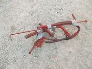 Farmall M Ih Tractor External Hydraulic Flow Valve Set Up To Rear + Lever Holder