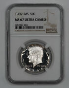 1966 Sms Kennedy Half Dollar 50c Ngc Certified Ms 67 Unc - Ultra Cameo 003