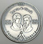 C5505  Famous Masons  Medal Lewis And Clark 1995